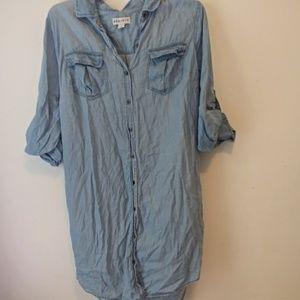Ava & Viv Shirt Dress Button Down Sz 1X